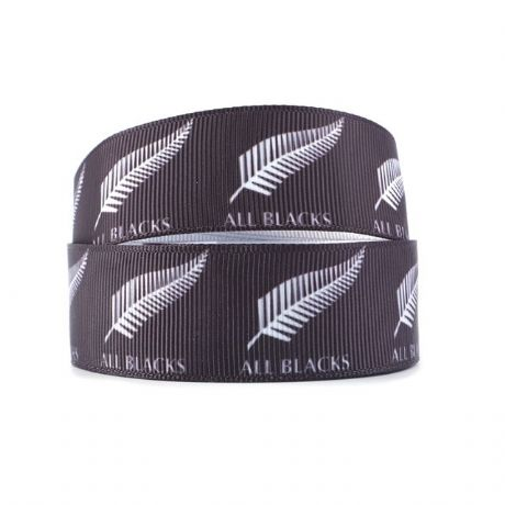 1 METRE ALL BLACKS NEW ZEALAND RUGBY RIBBON SIZE 1 INCH HEADBANDS HAIR BOWS